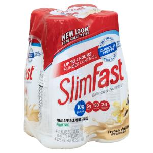 Slim Fast - Crmy French Vanilla Shake 4ct