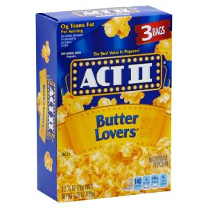 Act Ii - Popcorn Butter Lovers