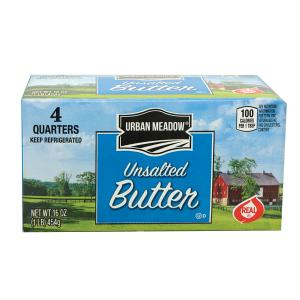 Urban Meadow - Unsalted Sweet Butter Qtrs